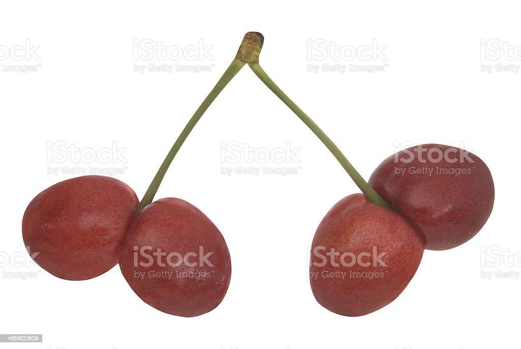 Uncommon cherries stock photo