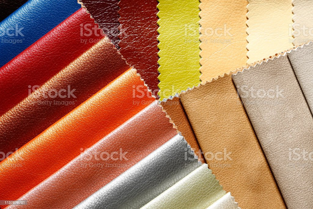 Uncommon dermatin background in admirable tones. Eco-leather samples.
