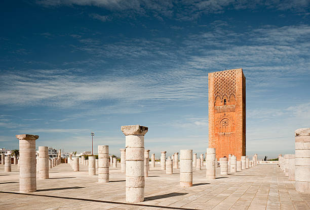 uncompleted mosque in rabat - rabat marocko bildbanksfoton och bilder
