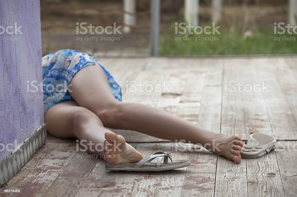 unconscious female victim royalty-free stock photo