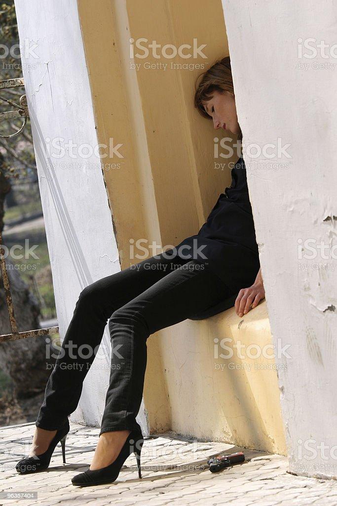 unconscious woman royalty-free stock photo