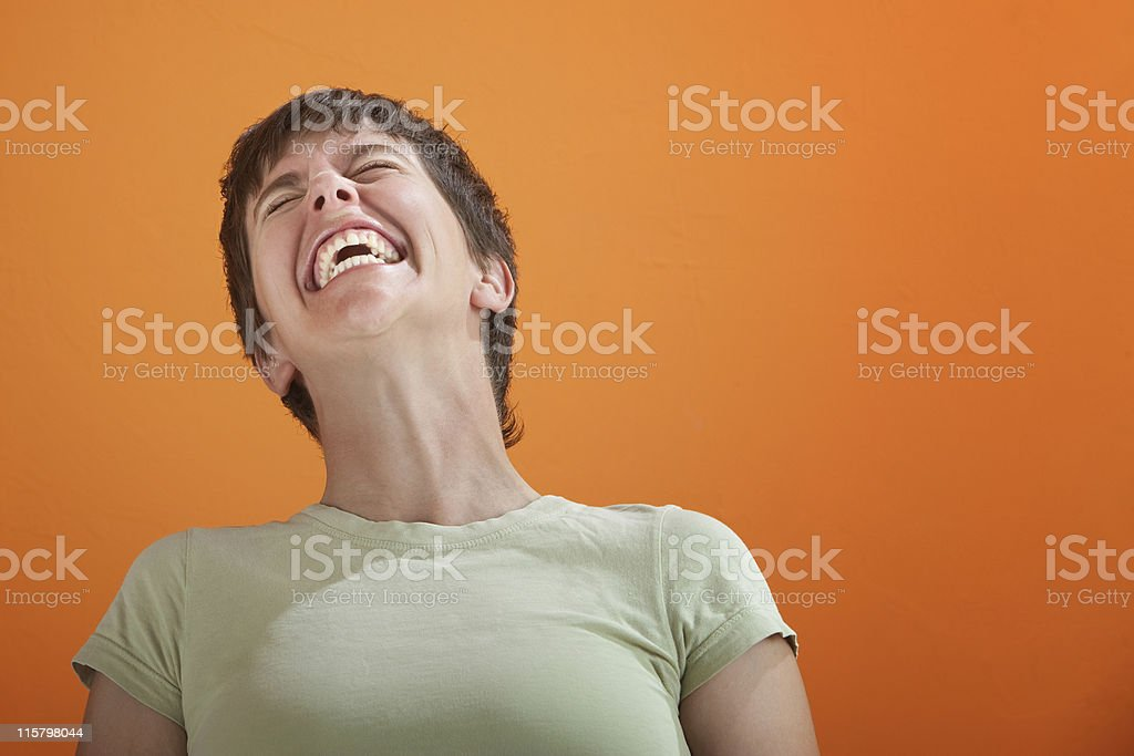 Uncontrollable Laughter stock photo