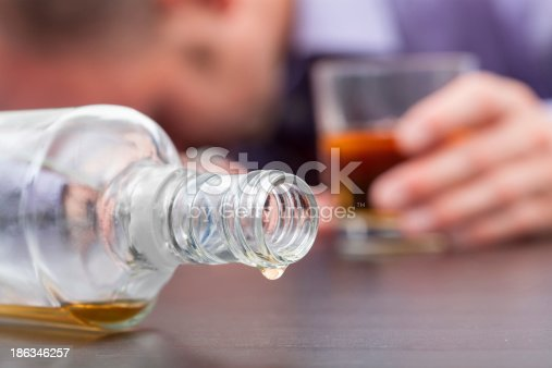 istock Uncontrolled consumption of alcohol 186346257