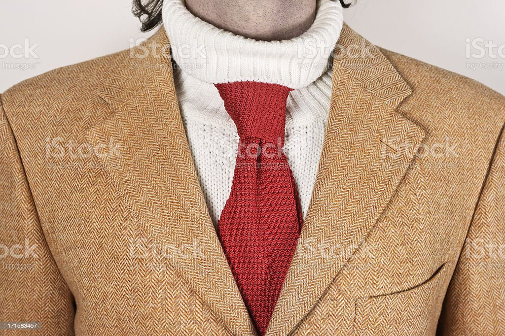 Unconventional elegance for cold winters stock photo