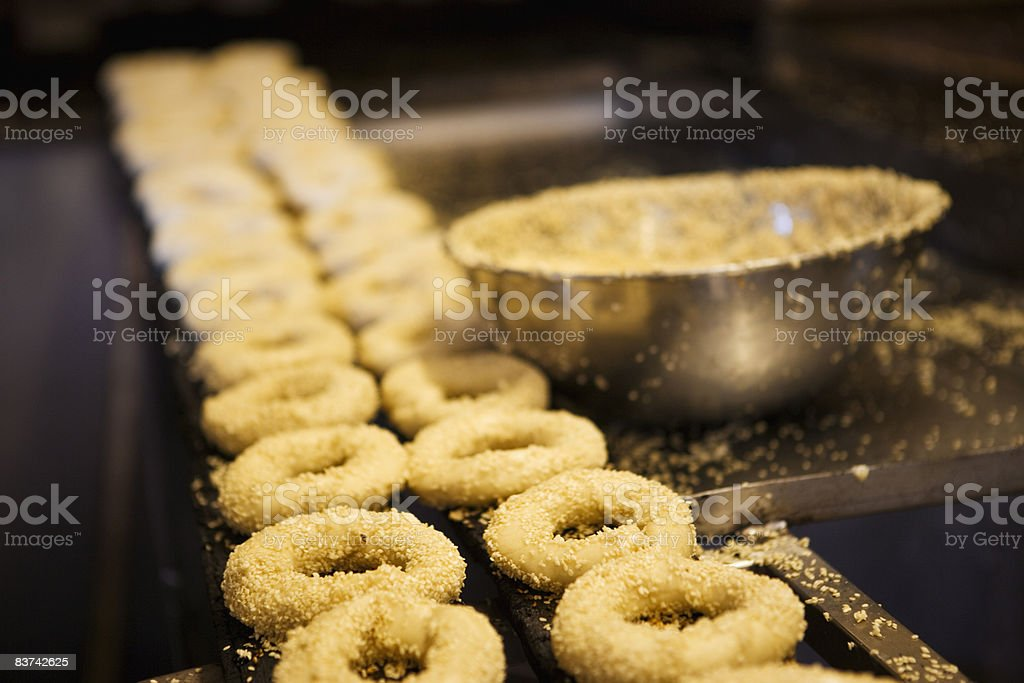 Uncooked bagels royalty free stockfoto