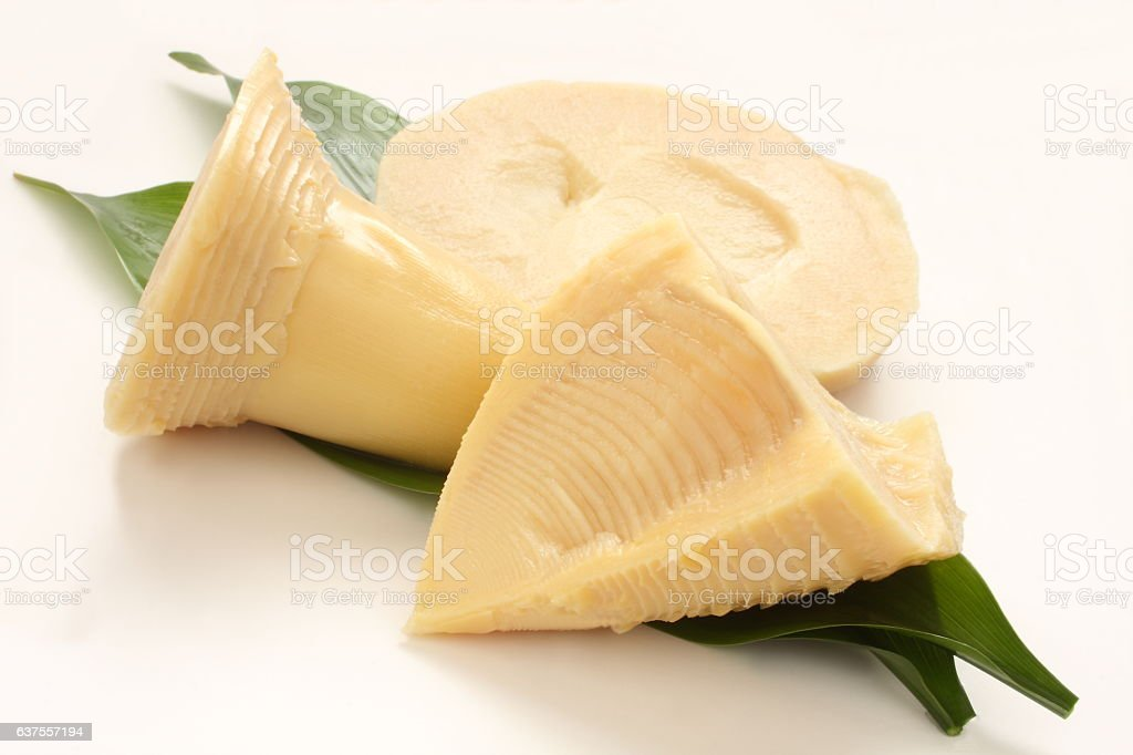 Uncooked Bamboo Shoot stock photo