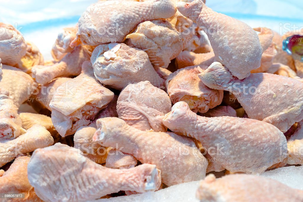 Uncooked chicken meat stock photo