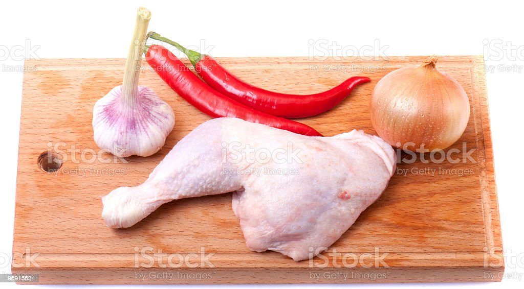 uncooked chicken royalty-free stock photo
