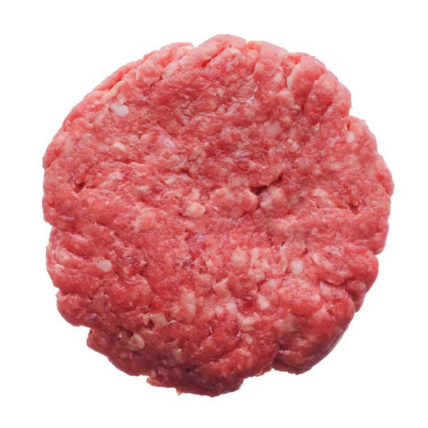 Uncooked homemade burger stock photo