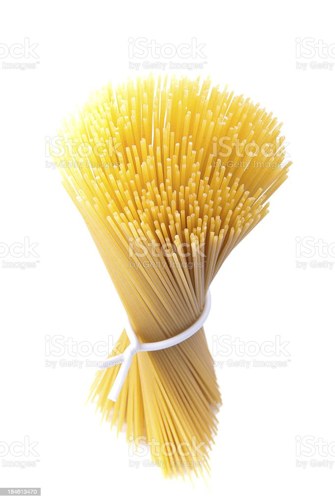 uncooked spaghettis royalty-free stock photo
