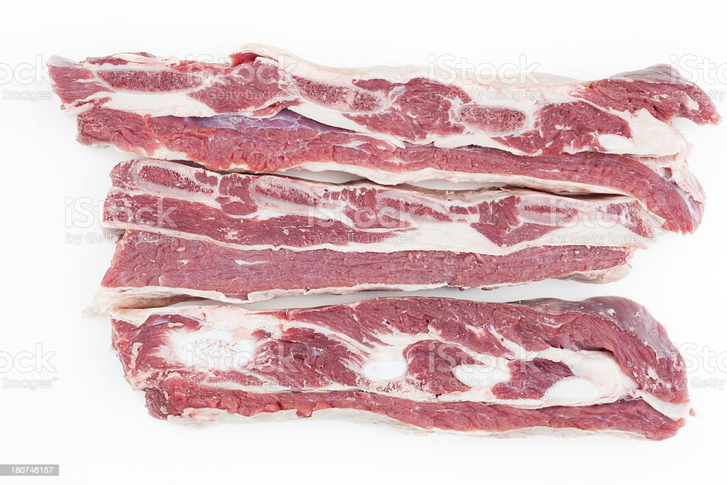 uncooked sparerib royalty-free stock photo