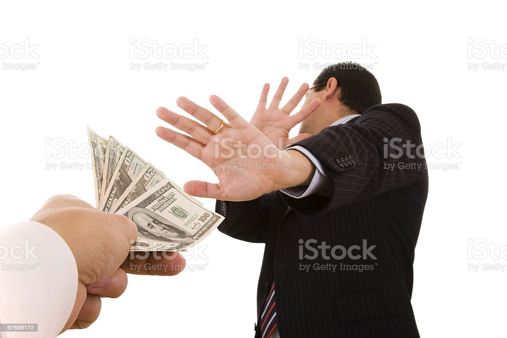 uncorrupt businessmen royalty-free stock photo