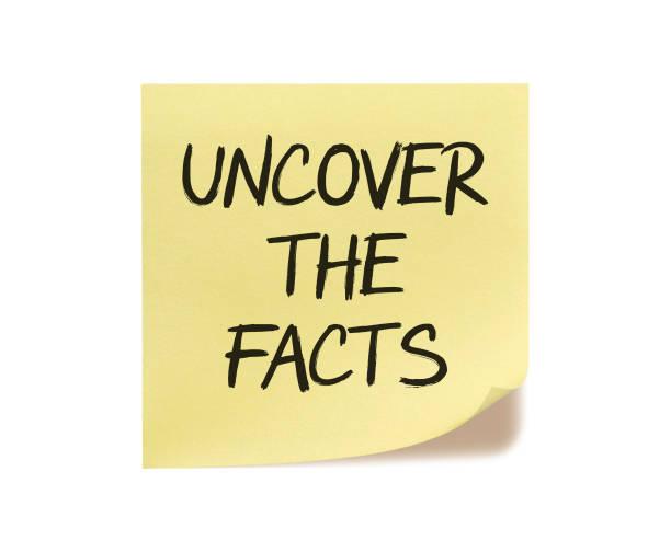 entdecken sie die fakten - wahre lügen stock-fotos und bilder