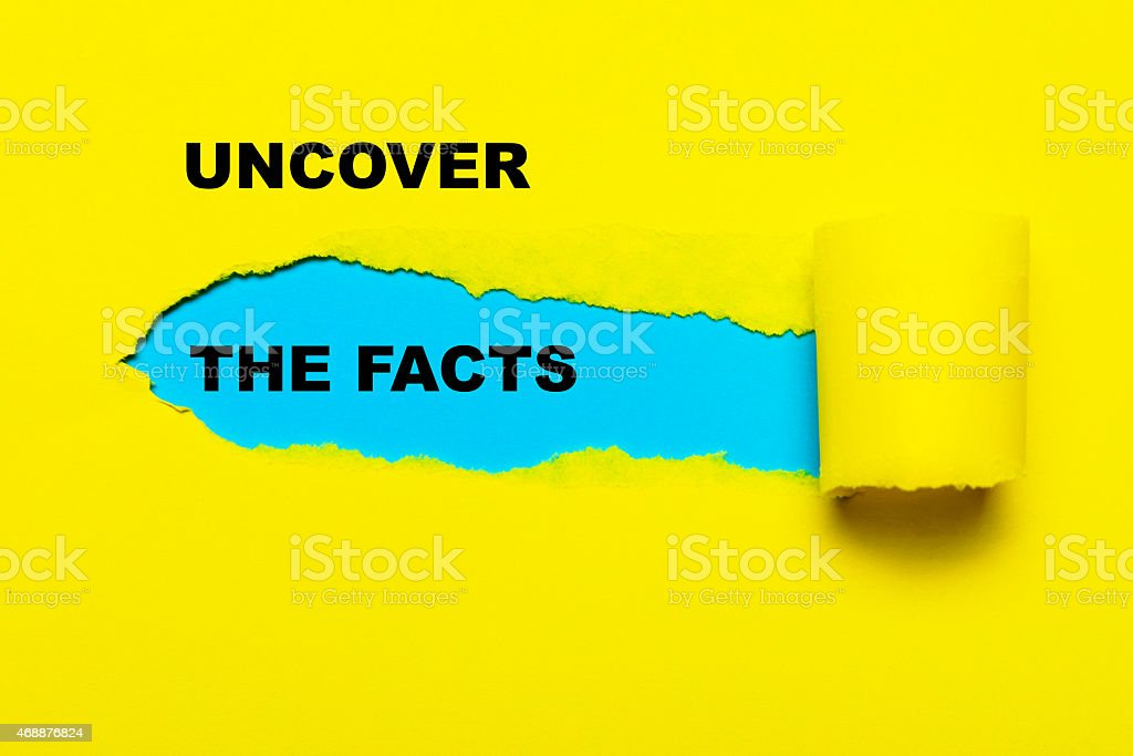 uncover the facts bildbanksfoto