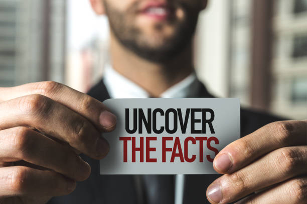 Uncover the Facts Uncover the Facts sign information equipment stock pictures, royalty-free photos & images