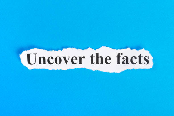 Uncover The Facts text on paper. Word Uncover The Facts on torn paper. Concept Image Uncover The Facts text on paper. Word Uncover The Facts on torn paper. Concept Image. information equipment stock pictures, royalty-free photos & images
