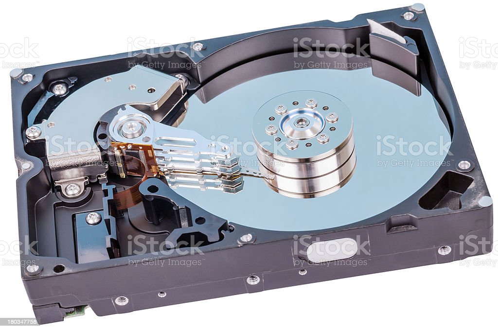 Uncovered Reader HDD royalty-free stock photo