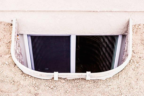 Dachlose Fenster gut mit dem Leiter von Untergeschoss Schlafzimmer.   Sicherheit – Foto