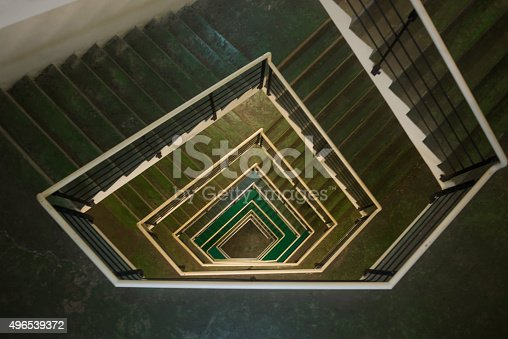 Uncrowded staircase of a building under modern architecture