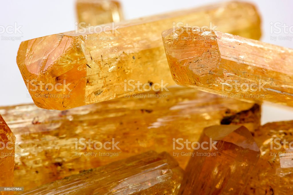 Uncut Imperial Topaz stock photo