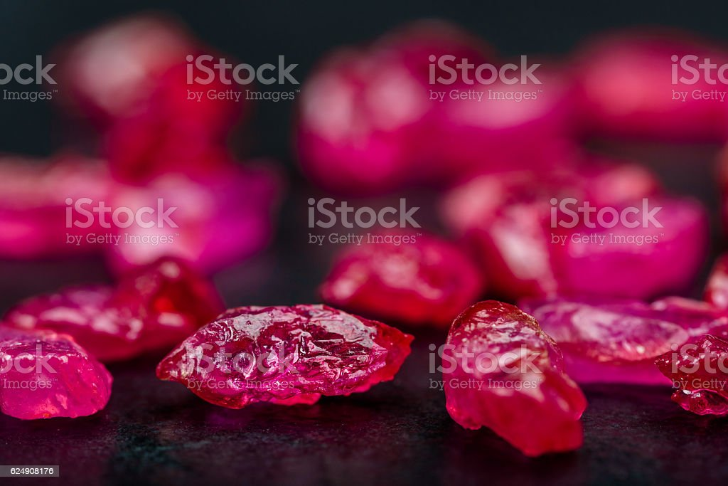 Uncut ruby stock photo