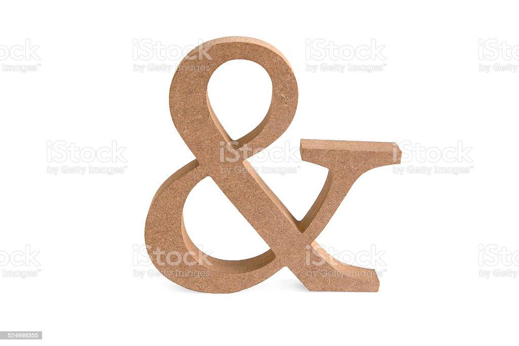 Und Zeichen aus Holz stock photo