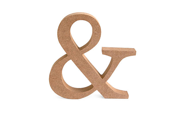 und zeichen aus holz - ampersand stock pictures, royalty-free photos & images