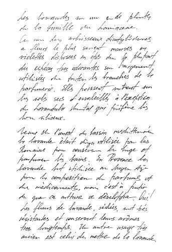 Non Definito Il Testo Francese Lettera Di Ringraziamento Scritto A Mano La Calligrafia - Fotografie stock e altre immagini di Album di ritagli