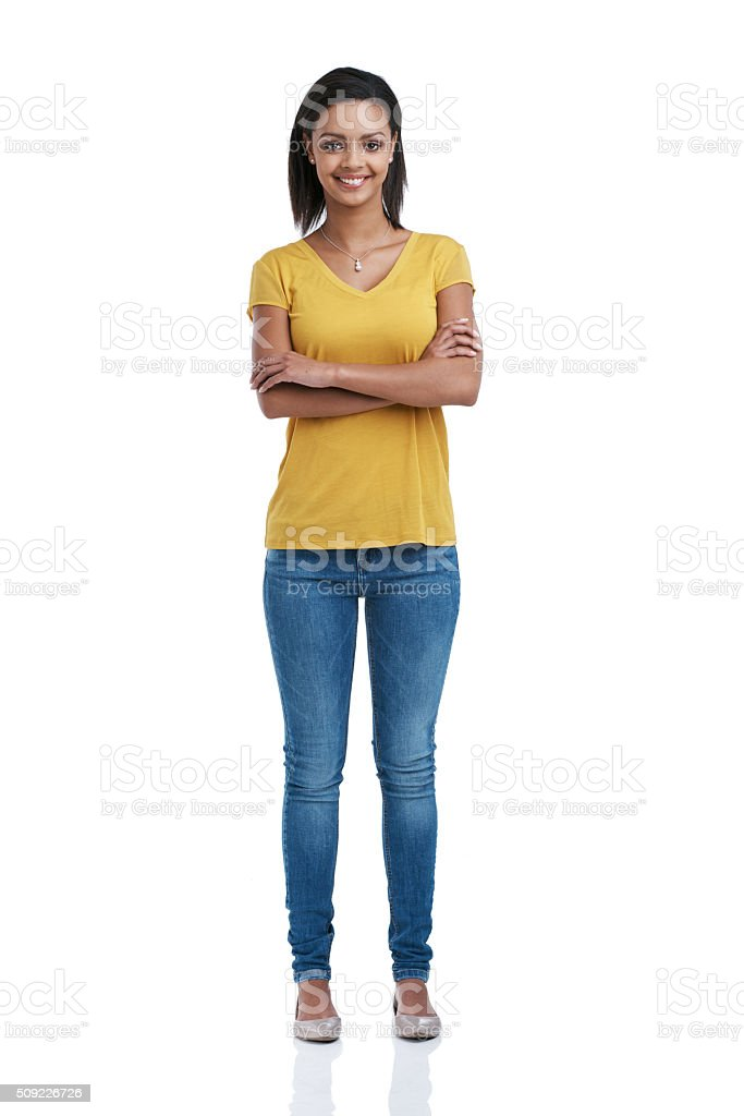 Undeniably confident stock photo