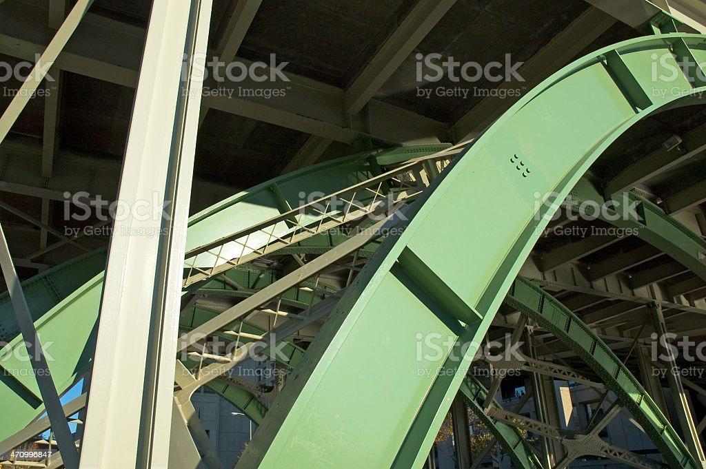 Under a Bridge royalty-free stock photo