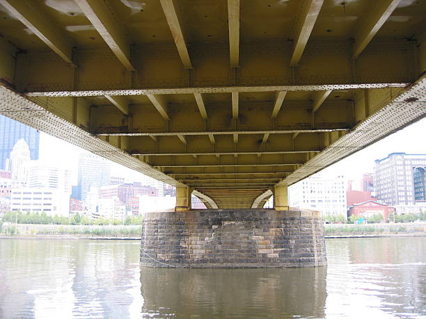 under a bridge  pittsburgh bridge stock pictures, royalty-free photos & images