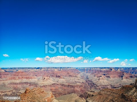 807387518istockphoto Under a clear blue sky lies  Grand Canyon 1070699604