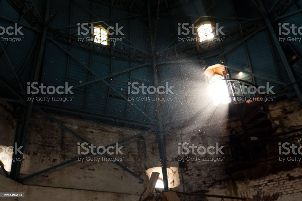 Under a roof stock photo