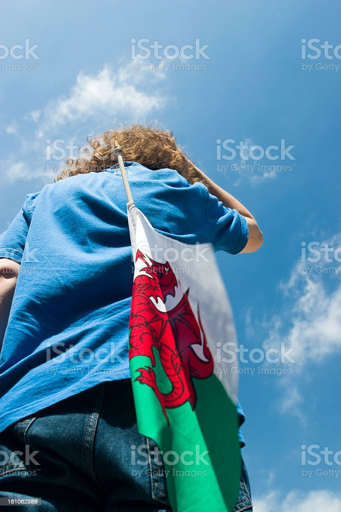 under a welsh sky stock photo