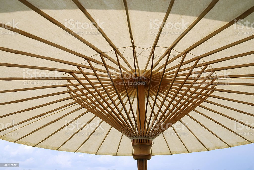 under an asian style parasol royalty-free stock photo