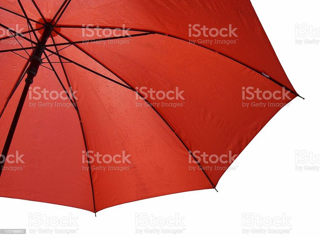 Under An Orange Umbrella royalty-free stock photo
