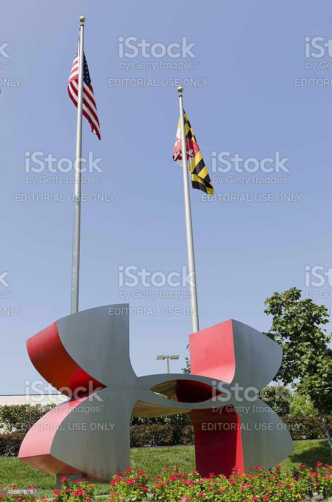 Under Armour Brand Logo Sculpture stock photo