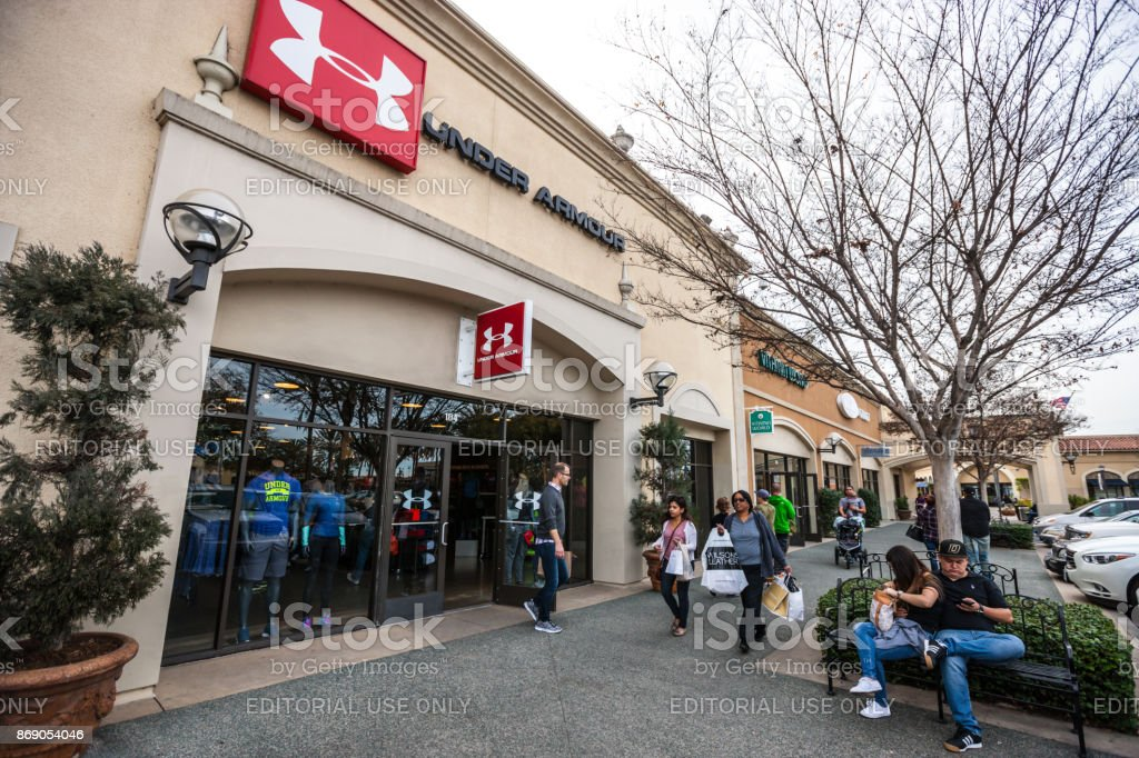Under Armour store in Las Americas shopping mall, San Diego, USA