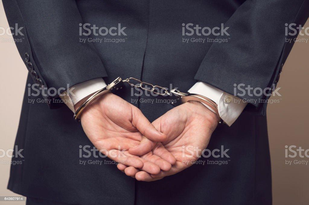Under arrest stock photo