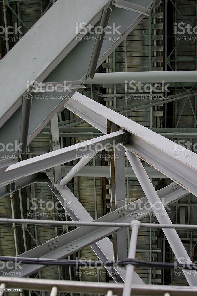 Under Auckland Bridge royalty-free stock photo