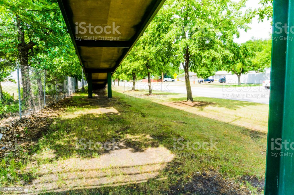 Under Bridge Walkway stock photo