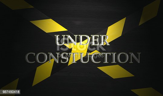 istock Under construction concept background. Warning tape. 937450418