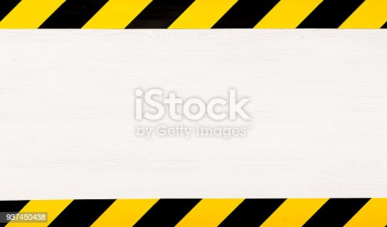 istock Under construction concept background. Warning tape. 937450438