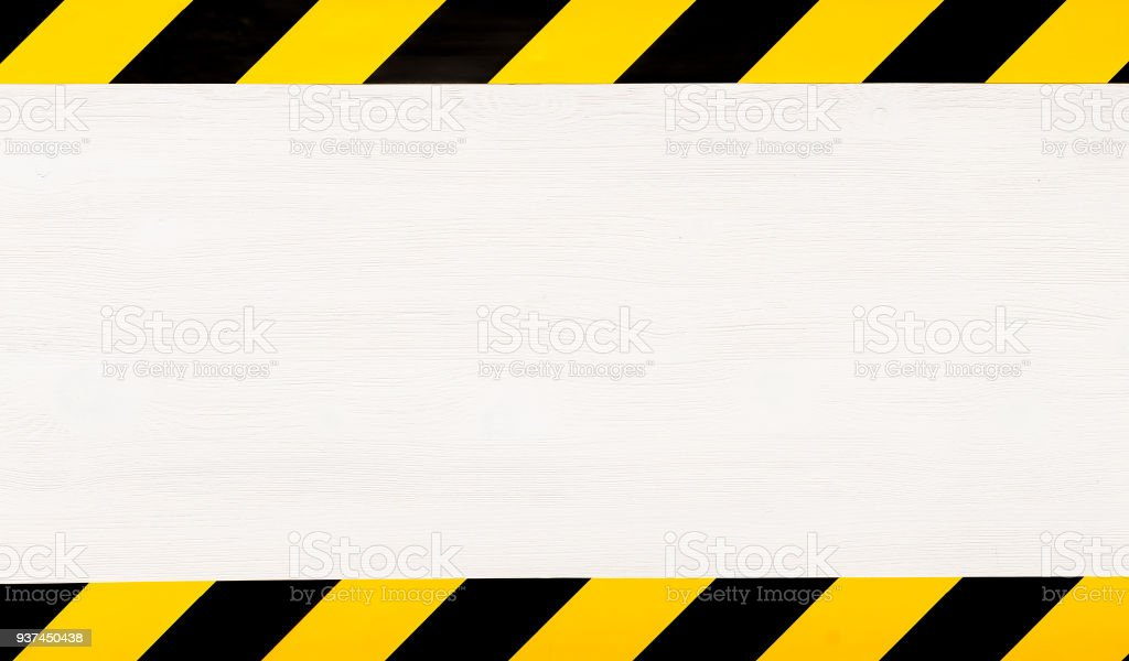 Under construction concept background. Warning tape. - fotografia de stock