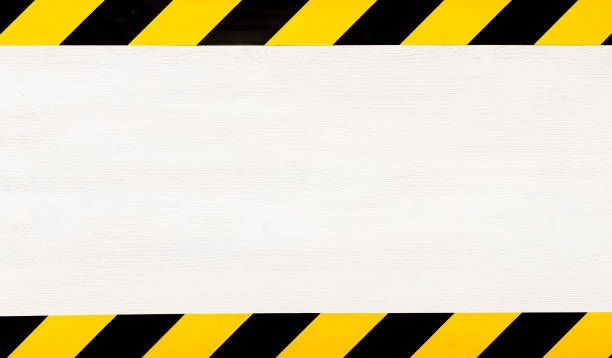 Under construction concept background. Warning tape. - foto stock