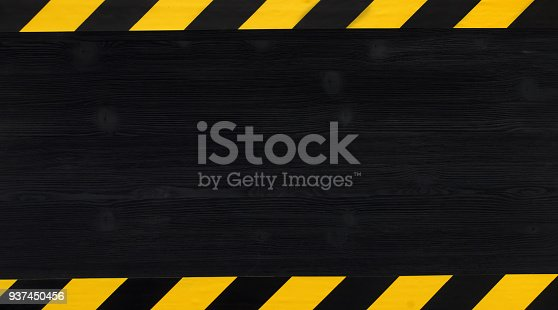 istock Under construction concept background. Warning tape. 937450456