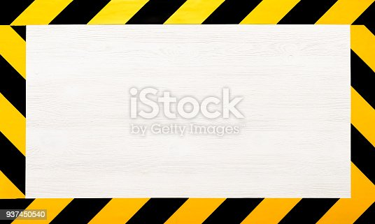 istock Under construction concept background. Warning tape. 937450540