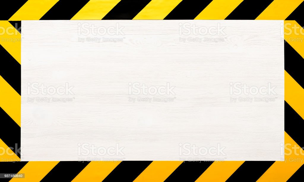 Under construction concept background. Warning tape. stock photo