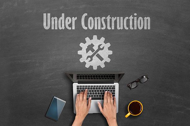 Sotto il concetto di costruzione - foto stock