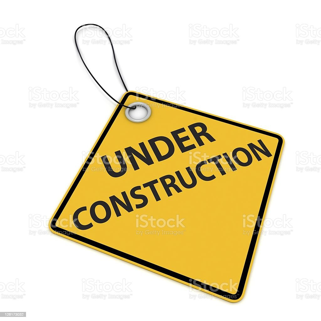 Under Construction royalty-free stock photo